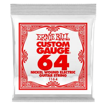 Ernie Ball 1164 - Nickel Wound Electric .064 single string for electric guitar