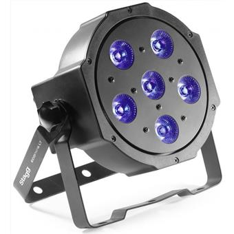 Stagg LightTheme™ ECOPAR 6 spot met 6 x 10 watt RGBWA (5 in 1) LED flood/PAR-licht