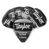 Taylor Premium Darktone 351 Thermex Ultra Guitar Picks 6-pack - Black Onyx 1.25mm