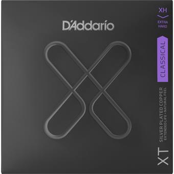 D'Addario XTC44 XT Classical Silver Plated Copper Extra Hard Tension standaard nylon snarenset