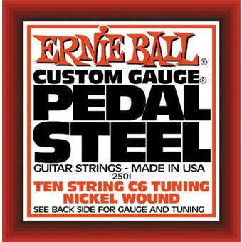 Ernie Ball 2501 Pedal Steel Nickel Wound 10-String C6 Tuning string for traditional instrument