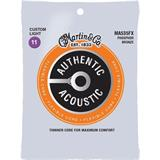 Martin Strings MA535FX Authentic Acoustic Flexible Core 92/8 Phosphor Bronze Custom Light