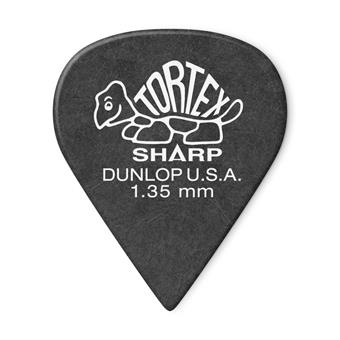 Dunlop Tortex Sharp 1.35mm 12-Pack standard pick