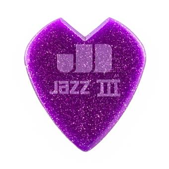 Dunlop Kirk Hammett Signature Jazz III 1.38mm Purple Sparkle 6-Pack standard pick
