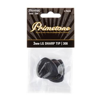 Dunlop Primetone Polycarbonate Large Sharp Tip 3.00mm 3-Pack standard pick