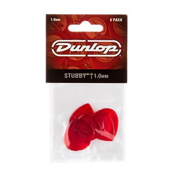 Dunlop Stubby Jazz 1.00mm 6-Pack standaard plectrum