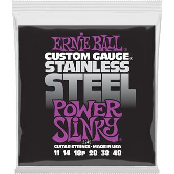 Ernie Ball 2245 Stainless Steel Power Slinky 011 electric guitar string set