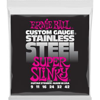 Ernie Ball 2248 Stainless Steel Super Slinky 009 electric guitar string set