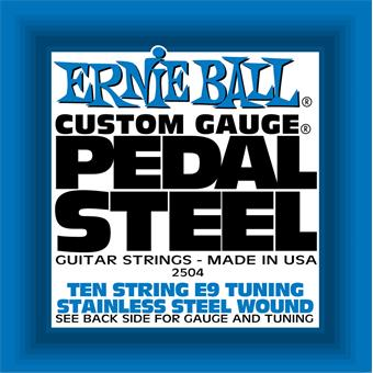 Ernie Ball 2504 Pedal Steel Stainless Steel Wound 10-String E9 strings for electric guitar