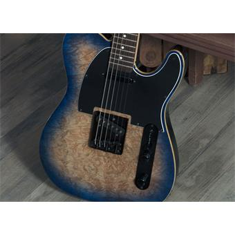 Michael Kelly Guitars Custom Collection 50 Burl Ultra Blue Burl elektrische gitaar