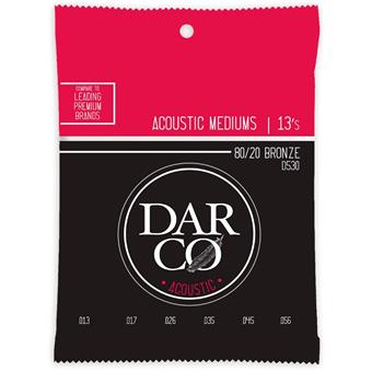 Darco D530 Acoustic Guitar 80/20 Bronze Mediums 013 acoustic guitar string set