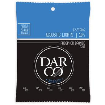 Darco D200 Acoustic Guitar 92/8 Phosphor Bronze 12-String Lights 12-string set acoustic guitar