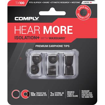 Comply TX-100 Small Black in-ear monitoring