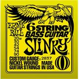 Ernie Ball 2837 6-String Slinky Bass Guitar Small Ball End