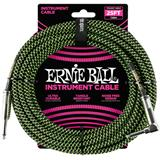 Ernie Ball 6066 Jack/Jack 762cm Black & Green
