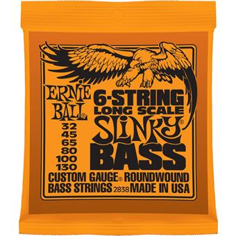 Ernie Ball 2838 6-String Slinky Bass Long Scale Nickel Wound paquet cordes 6-cordes guitare basse