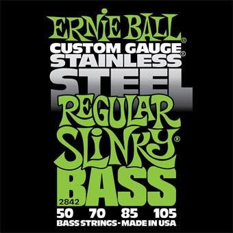 Ernie Ball 2842 Stainless Steel Regular Slinky Bass 050 E-Bass Saitensatz