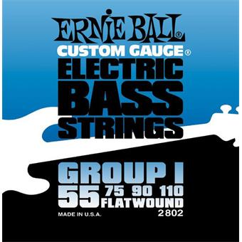 Ernie Ball 2802 Flatwound Bass Group I paquet cordes flatwound guitare basse