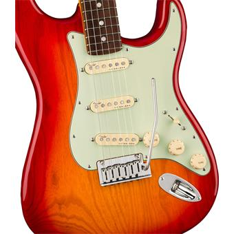 Fender American Ultra Stratocaster RW Plasma Red Burst electric guitars