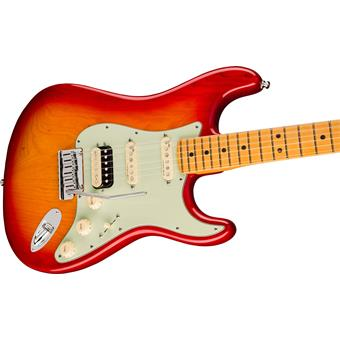 Fender American Ultra Stratocaster HSS MN Plasma Red Burst electric guitar