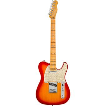 Fender American Ultra Telecaster MN Plasma Red Burst electric guitar