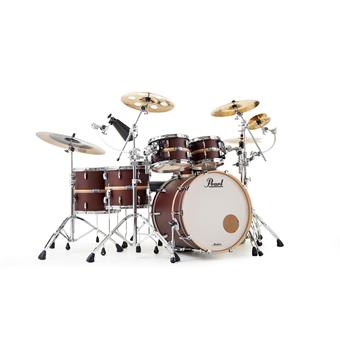 Pearl MCT925XEP/C846 Masters Maple Complete Banded Antique Walnut LIMITED EDITION rock shell kit