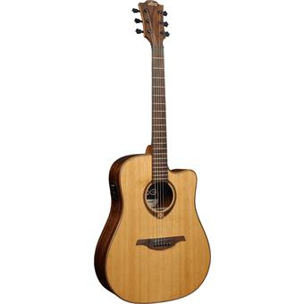 Lâg Tramontane T118DCE Natural acoustic-electric cutaway dreadnought guitar