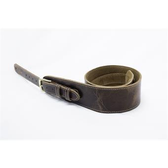 LG Strap FAB Roadworn Brown lederen gitaarband