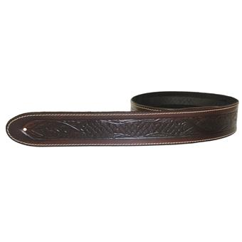 LG Strap Celtic Embossed Brown Ledergurt