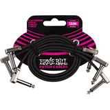 Ernie Ball 6222 Flat Ribbon Patch Cables 30cm 3-Pack