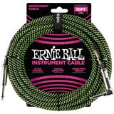 Ernie Ball 6077 Jack/Jack 300cm Black & Green