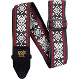 Ernie Ball 4669 Jacquard Strap Blackjack Red