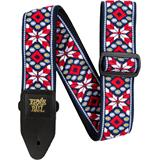 Ernie Ball 4639 Jacquard Strap Taos Fire Red