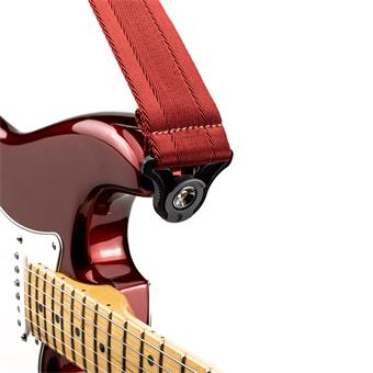 D'Addario Auto Lock Guitar Strap Blood Red gitaarband