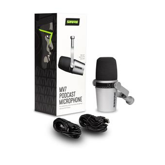 Shure MV7-S large diaphragm microphone