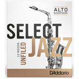 D'Addario Woodwind Select Jazz Filed Alto Sax Reeds - 3 Medium - 10 pack