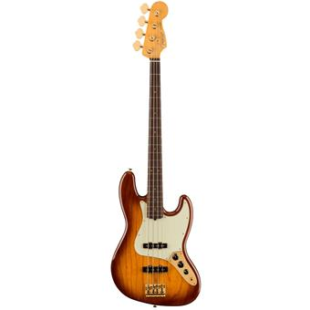 Fender 75th Anniversary Commemorative Jazz Bass, Rosewood Fingerboard, 2-Color Bourbon Burst 4 string bass guitar
