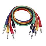 DAP Balanced patch cable 60 cm  straight connectors -six colour pack-