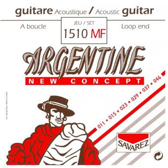 Argentine 1510MF Light Loop End 011 acoustic guitar string set