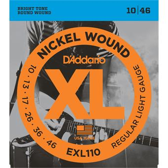 D'Addario EXL110 Regular Light 010 electric guitar string set