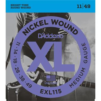 D'Addario EXL115 Blues Jazz Rock paquet cordes .011 guitare électrique