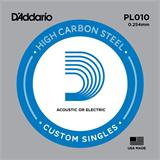 D'Addario PL010 Plain Steel Single 010