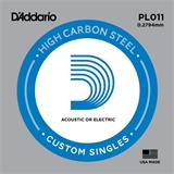 D'Addario PL011 Plain Steel Single 011
