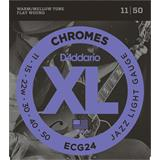 D'Addario ECG24 Chromes Flat Wound Jazz Light