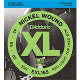 D'Addario EXL165 Reg Light Top Medium Bottom 45-105