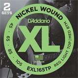 D'Addario EXL165TP Reg Light Top Medium Bottom Twin Pack 45-105