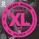 D'Addario EXL170TP Regular Light Twin Pack 45-100