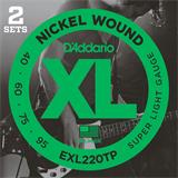 D'Addario EXL220TP Super Light Twin Pack 40-95