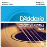 D'Addario EJ38 Hosphor Bronze Light 12-String 10-47