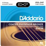 D'Addario EXP38 Coated Phosphor Bronze 12-String Light 10-47